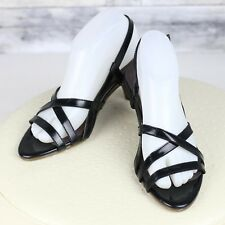 You by Crocs Pixie Black Patent Leather Strappy Dressy Comfort Sandals Womens 8