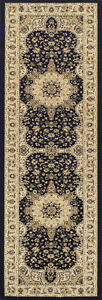 Black Beige High Quality Traditional Classic Design Hall Rugs Runner 68x235cm
