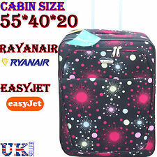 Cabin Hand Luggage Wheeled Suitcase Travel Bag Holdall Trolley Easyjet Ryanair