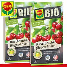 COMPO 2 x 3 Pièce Bio Kirschfruchtfliegen-Fallen Pour Kirsch- Et Walnussbäume