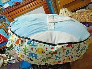 Momababa Newborn JUMBO Portable Baby Bean Bag  Bed Sleep Bed Padded Strap In