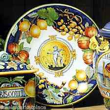 INTRADA Italian Ceramic Decorative Wall Plate w/ Angel & Fruit Made in Italy
