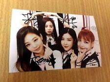 Black Pink BPINK Korean Pop All Member Signed Group 4x6 Autographed USA SELLER 3