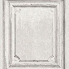 Rasch Wooden Door Pattern Wallpaper Wood Effect Panel Textured Vinyl Paste Wall