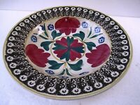 """Antique 19Th Century Spongeware Plate Dish Charger English Pottery Collectib""""F40"""
