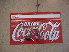 Coca-Cola Chrome Plated License Plate - BRAND NEW!