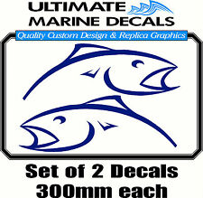 Berkley Blue Mirrored Fish 300mm Decal, Toolbox, Tackle Box Sticker
