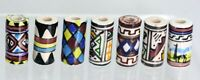 Made in Peru    Hand painted ceramic Beads          TUBE   Lots  x 4