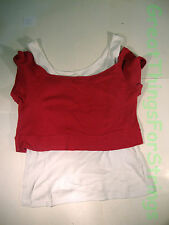 One Step Up Double Layered Tanktop / Sleevelesss Shirt PInk Size M 100% Cotton