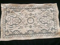 Antique Lace Tea Tray Mat Cloth Sewing Costume Design French Dolls Decor