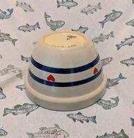 "RRP Mixing Bowl Blue Stripes 8"" Pottery Roseville Robinson Ransbottom Ohio USA"