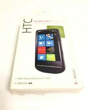 HTC Powerskin Silicone Case/Cover w/Built-in Battery For HTC HD7 4G Phones in BK