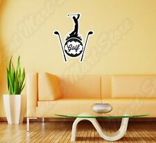 "Golf Play Club Ball Course Sport Grass Wall Sticker Room Interior Decor 20""X25"""