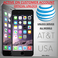 APPLE iPhone 5/5c/5s/5se/6/6+/6s/6s+/7/7+/ AT&T ACTIVE IMEI UNLOCK SERVICE