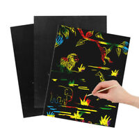 Child Magic Scratch Art Painting-Paper With Drawing Stick Kids Educational Toys