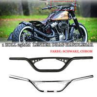 1 Zoll 25mm Motorrad Lenker Drag Handlebar für Harley Sportster XL883  Bobber