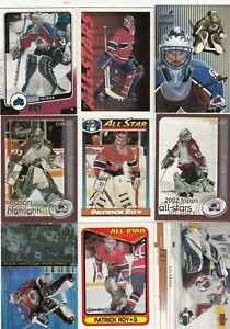 PATRICK ROY a lot of 9 DIFFERENTS CARDS INSERTS near mint   LOT 2        a