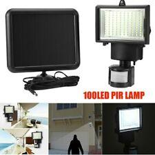 100LED Solar Sun Power PIR Sensor Flood Security Light Outdoor Garden Wall Lamp