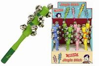 Superetro Baby Kids Jingle Stick Shaker Rattle Toys Wooden Handle Bell TY8127