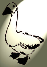 Shabby Chic plastic Stencil Artistic geese goose Rustic A4 297x210mm wall DESA