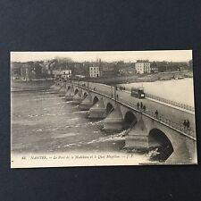 CPA- NANTES - Le Pont De La Madeleine et Le Quai Magellan 1915 - Carte Postale