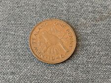 New Zealand 1946 One Penny Coin VF Excellent Grade Free UK P&P
