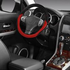 US 15''/38cm Car Anti-Slip Steering Wheel Cover Microfiber Leather Soft Durable