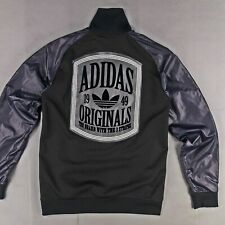 ADIDAS ORIGINALS BASEBALL JACKE SUPERSTAR VARSITY JACKET NYLON WILDLEDER CHILE M