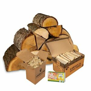Chiminea Starter Kit. Kiln Dried Hardwood, Kindling, Firelighters and Matches.