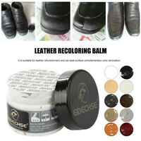 EIDECHSE  LEATHER RECOLOURING BALM CREAM RESTORER SOFA CHAIRS 10 COLOURS 50ml