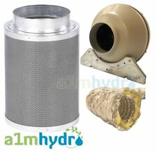 Rhino Hobby Carbon Filter Kit 125x300mm 5 Inch Systemair RVK Fan Hydroponics