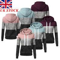 UK Womens Hoodies Sweatshirt Ladies Girls Hooded Tops Jumper Pullover lskn