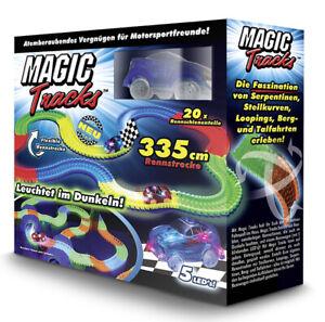 Magic Tracks Starter Set   Autorennbahn f. Kinder ab 3 J.   Rennbahn leuchtend