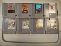 Lot of 8 Classic Nintendo Entertainment System NES Games