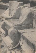 S01.Vintage Postcard.Chair of the priest of Bacchus.Bacchus theatre, Athens
