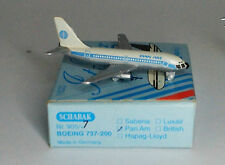 Schabak boeing 737-222a PAN AM 1ST WITH BLUE titoli in 1:600 Scala
