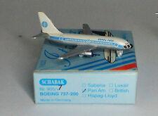 Schabak Boeing 737-222a PAN AM 1st con Azul Títulos en 1:600 Escala