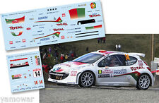 Decal 1:43 Bruno Magalhaes - PEUGEOT 207 S2000 - Rally Montecarlo 2011