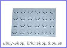Lego Platte Grundplatte grau 4x6 - 3032 - Light Bluish Gray Plate - NEU / NEW