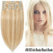 Clip in Remy Human Hair Extensions Full Head Thick Brazilian Brown Glossy P648