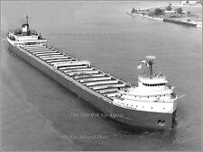 Poster Print: 18x24 Aerial: SS Edmund Fitzgerald On The Lakes With Cargo, 1968