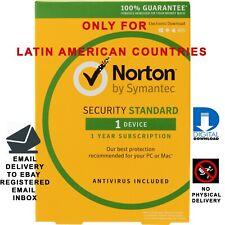Norton Security Standard 1 Year 1 Device Latin America Region Brand New
