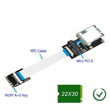 M.2 key A/E/A+E to Mini PCI-E Adapter with FFC Cable Case