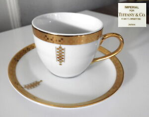 Tiffany & Co. IMPERIAL Frank Lloyd Wright DEMITASSE Cup & Saucer(s) MINT!