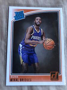2018-19 NBA Donruss Mikal Bridges Rated Rookie RC 🔥 #200 Phoenix Suns