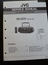 Original Service Manual  JVC RC-Q70