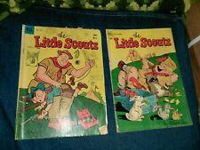 Little Scouts 5 & Four Color 462 Dell Comics Lot Run Set Collection roland cae