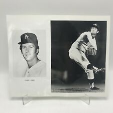"TOMMY JOHN - Los Angeles Dodgers Baseball - 2 Photographs on 8"" x 10"" Page"