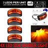 4X Amber 10-30V LED Clearance Side Marker Indicator Light Car Truck Trailer Lamp