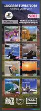 Ecuador 2017 MNH UPAEP Tourism 8v S/A Booklet + 5v Strip Birds Flowers Stamps